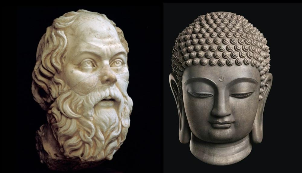 Socrates and Buddha
