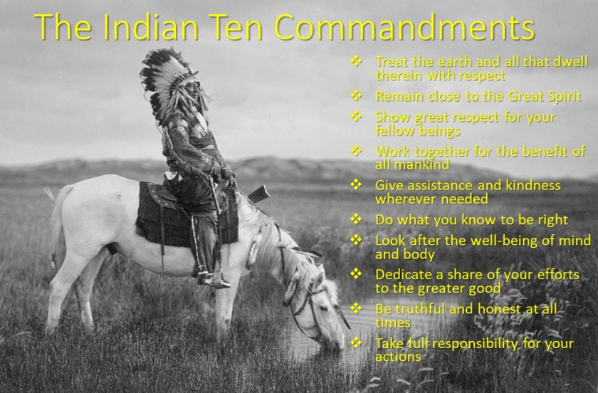 The Indian Ten Commandments